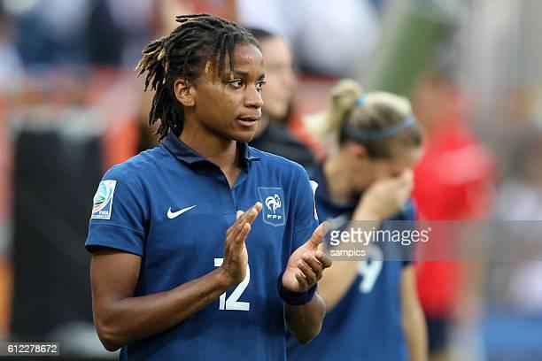Elodie Thomis FRA Spiel um PLatz 3 kleines Finale Schweden Frankreich 21 FifA Frauen Fussball WM Weltmeisterschaft 2011 in Deutschland FIFA women...