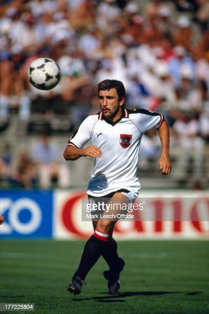 Fifa World Cup 28 June 1982 Austria v France Hans Krankl of Austria