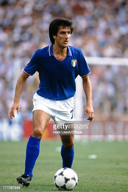 Fifa World Cup Final 11 July 1982 Italy v West Germany Italian defender Gaetano SCIREA
