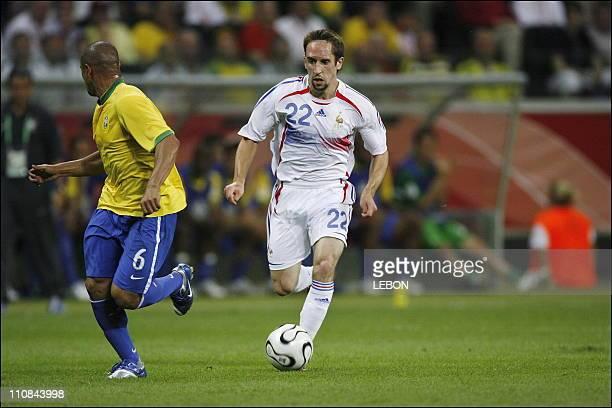 Fifa World Cup Germany 2006 Brazil/France 01 In Frankfurt Germany On July 01 2006 Roberto Carlos Franck Ribery