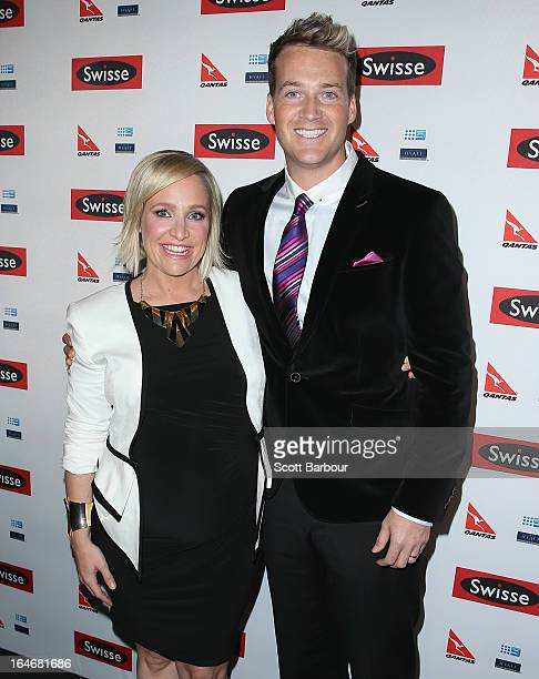 Fifi Box and Jules Lund arrive at a Ellen DeGeneres Welcome Party on March 26 2013 in Melbourne Australia Ellen DeGeneres is in Australia to film...