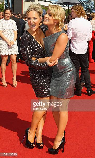 Fifi Box and Natalie Bassingthwaighte arrives at the 2011 ARIA Awards at Allphones Arena on November 27 2011 in Sydney Australia