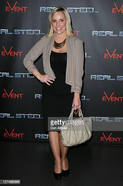 Fifi Box arrives at the Australian premiere of 'Real Steel' at Event Cinemas on September 28 2011 in Sydney Australia