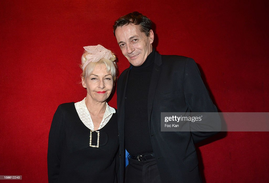 Fifi Chachnil and Eric Busch attend the 'Joyeux Paradis' Party by Emmanuel d'Orazio & Marc Zaffuto at Le Paradis Latin on December 20, 2012 in Paris, France.