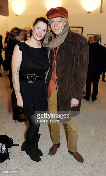 Fifi Trixibelle Geldof and father Sir Bob Geldof attend a private view of Nikolai Von Bismarck's new photography exhibition 'In Ethiopia' at 12...