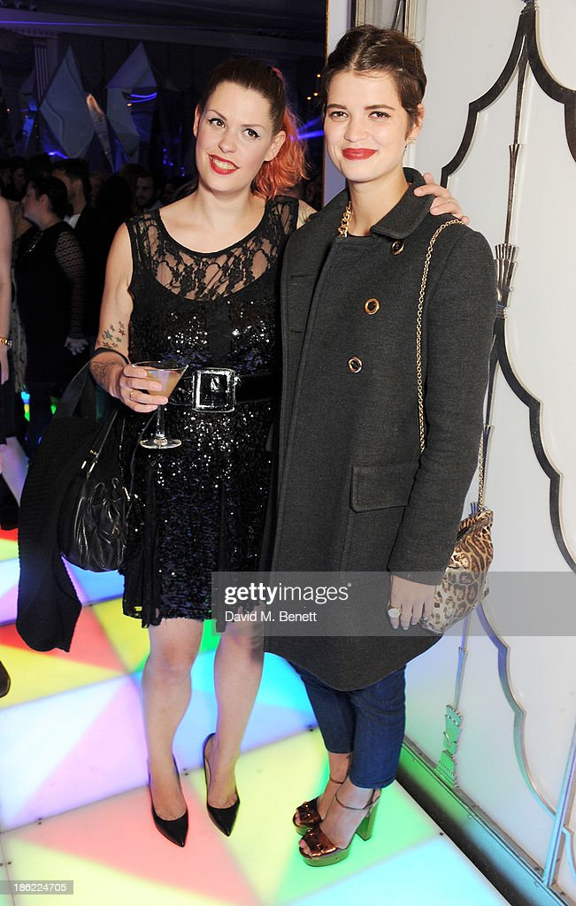 Fifi Trixibelle Geldof (L) and <a gi-track='captionPersonalityLinkClicked' href=/galleries/search?phrase=Pixie+Geldof&family=editorial&specificpeople=208703 ng-click='$event.stopPropagation()'>Pixie Geldof</a> attend the John Frieda party celebrating 25 years of transforming women's hair at Claridges Hotel on October 29, 2013 in London, England.