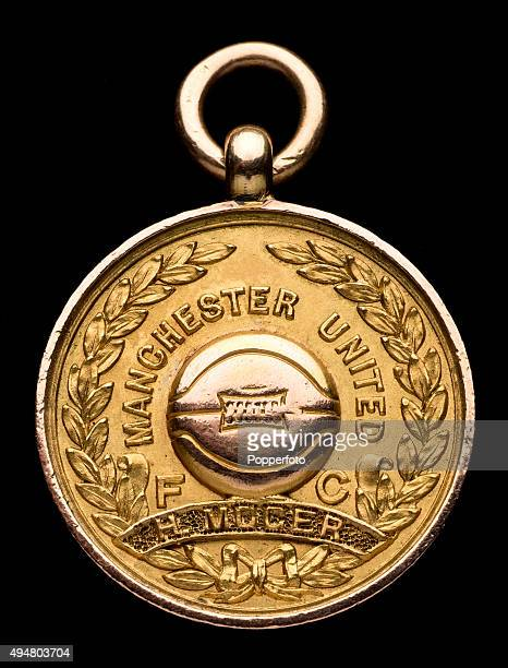 A fifteen carat gold Football League Championship medal awarded to Harry Moger the goalkeeper in Manchester United's first ever League Division One...