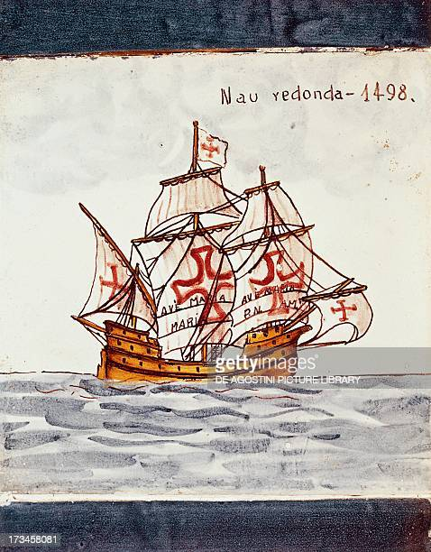 Fifteenthcentury nave redonda azulejos decoration from Sagres Portugal Madrid Museo Naval