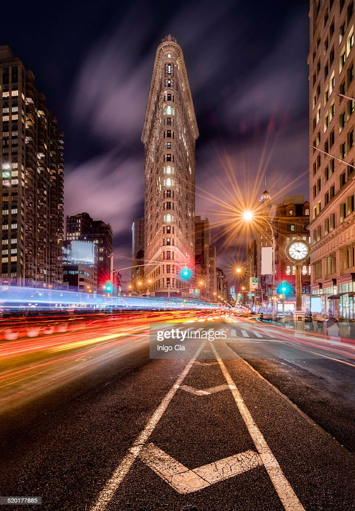 Fifth avenue at night, New York