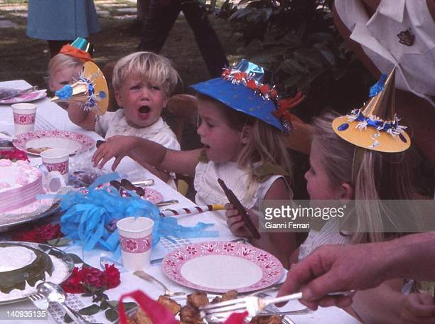 Fifth birthday of the Infanta Cristina daughter of the Spanisch Kings in Zaruela Palace Crown Prince Felipe the Infanta Cristina and the Infanta...