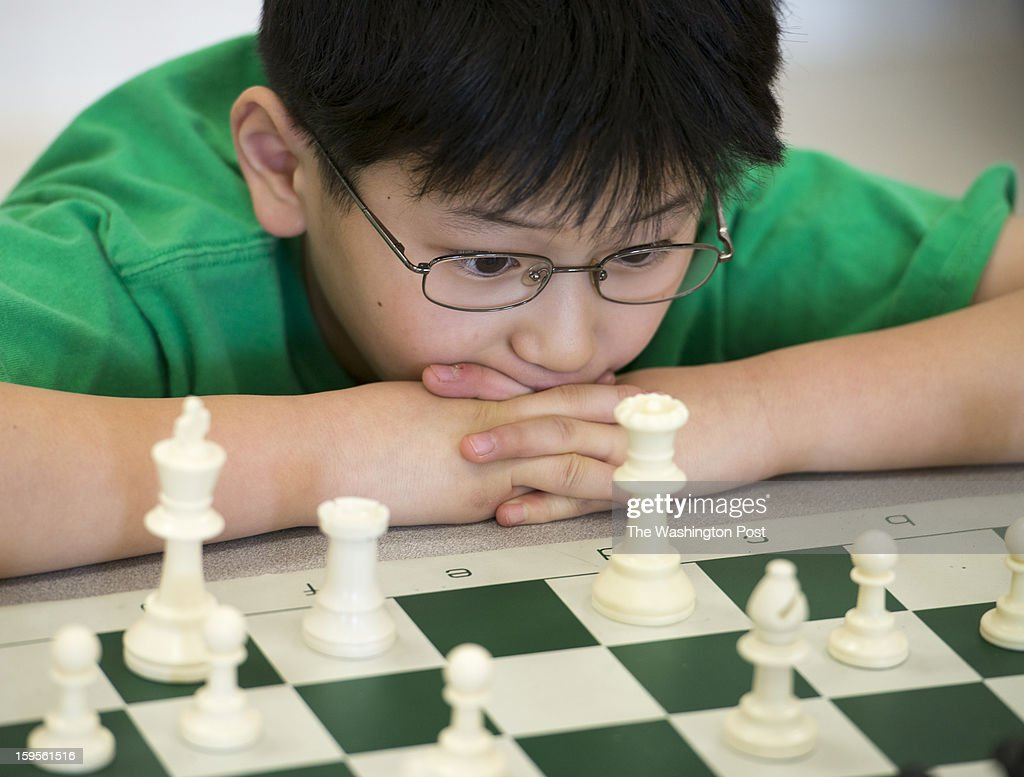 Fifth grader Ryan Xu helped the Greenbrier West Elementary School chess team win at the K-12 national chess championships in Orlando, Florida. Photographed in the schools cafeteria at Greenbriar West Elementary School in Chantilly, Virginia on January 07, 2013.
