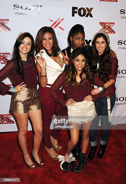 Fifth Harmony arrives at the 'The X Factor' viewing party sponsored by Sony X Headphones at Mixology101 Planet Dailies on December 6 2012 in Los...