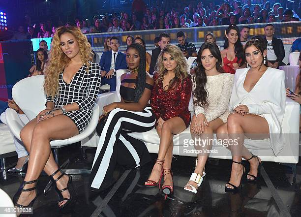 Fifth Harmony attend Univision's Premios Juventud 2015 at Bank United Center on July 16 2015 in Miami Florida