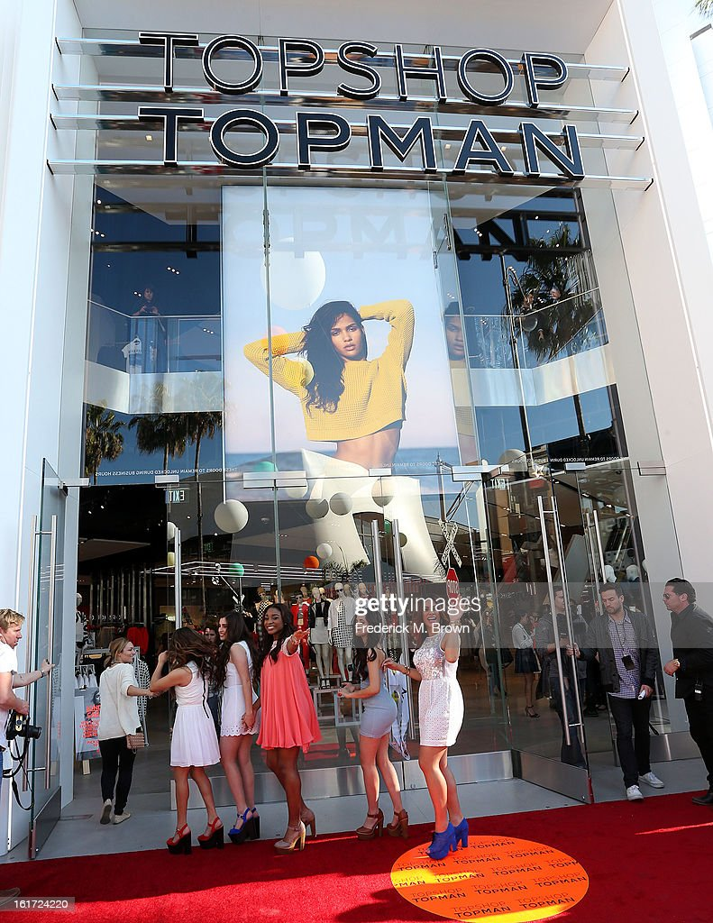 Fifth Harmony attends the Topshop Topman LA Grand Opening at The Grove on February 14, 2013 in Los Angeles, California.