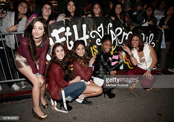 Fifth Harmony attends The X Factor Viewing Party Sponsored By Sony X Headphones at Mixology101 Planet Dailies on December 6 2012 in Los Angeles...