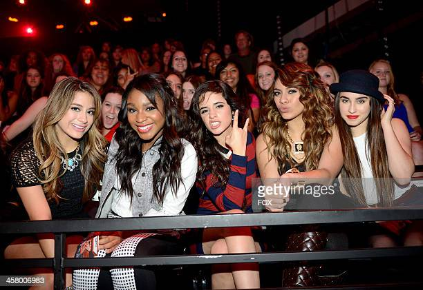 'Fifth Harmony' in the audience on FOX's 'The X Factor' Season 3 Live Finale on December 19 2013 in Hollywood California