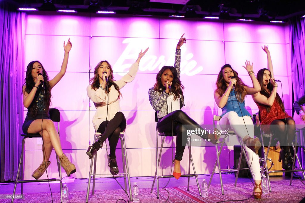 Pop Band Fifth Harmony Press Conference And Performance