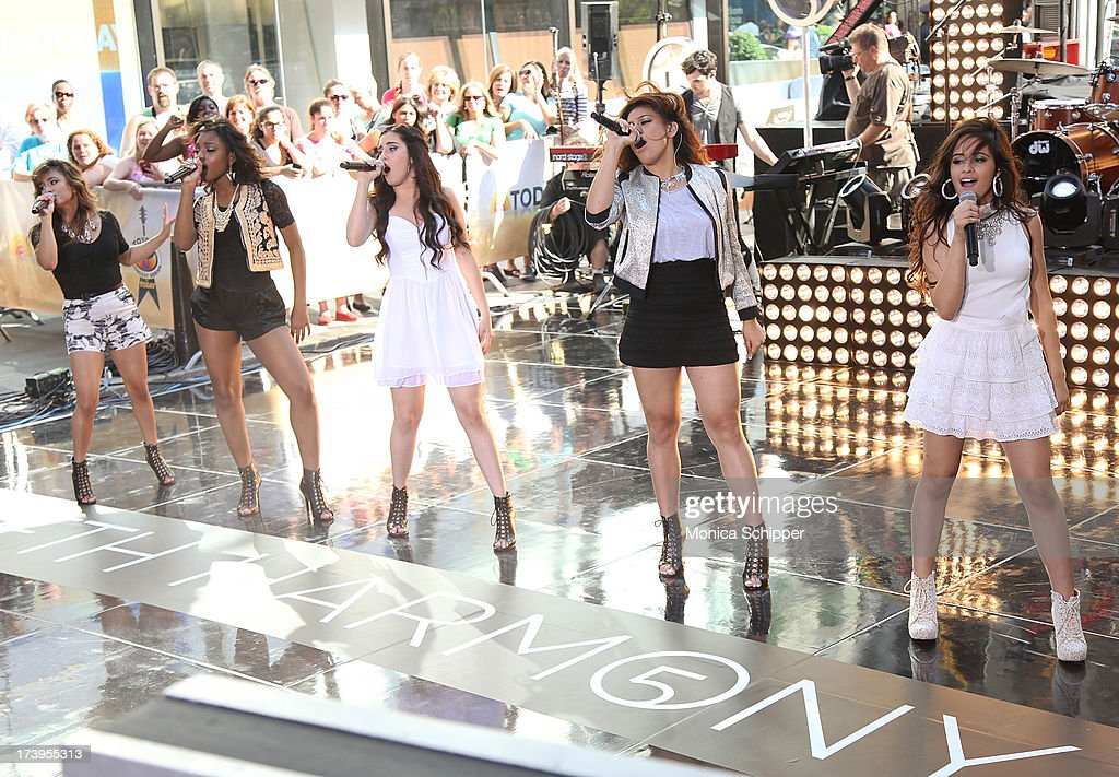 Fifth Harmony performs at NBC's TODAY Show on July 18, 2013 in New York City.
