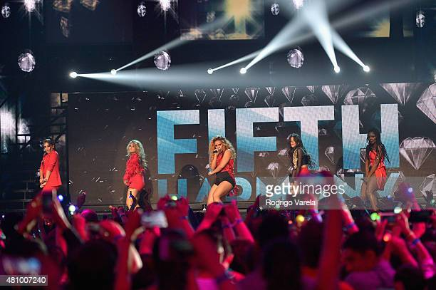 Fifth Harmony performs onstage at Univision's Premios Juventud 2015 at Bank United Center on July 16 2015 in Miami Florida