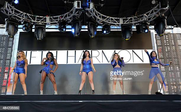 Fifth Harmony performs onstage during PANDORA SUMMER CRUSH 2015 at LA LIVE on August 15 2015 in Los Angeles California