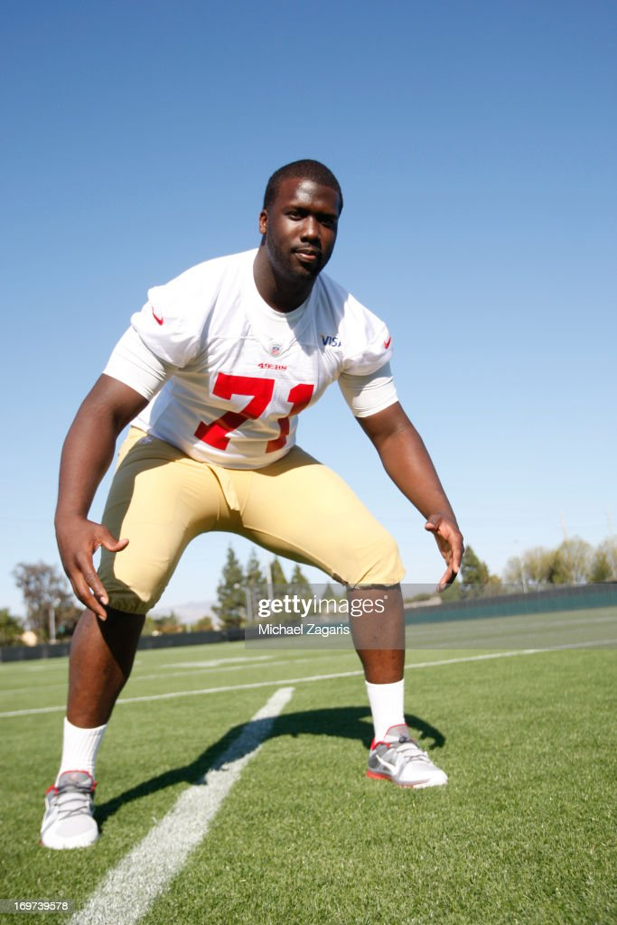 Fifth round draft pick Quinton Dial poses for a photo during the San Francisco 49ers Rookie Camp at the team training complex facility on May 10, 2013 in Santa Clara, California