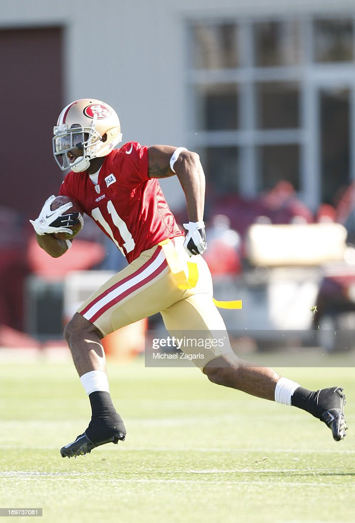 Fifth round draft pick Quinton Dial works out during the San Francisco 49ers Rookie Camp at the team training complex facility on May 10, 2013 in Santa Clara, California