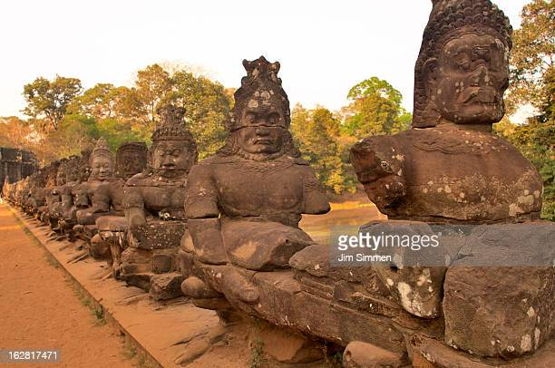 Fifty four asuras along causeway to Angkor Thom