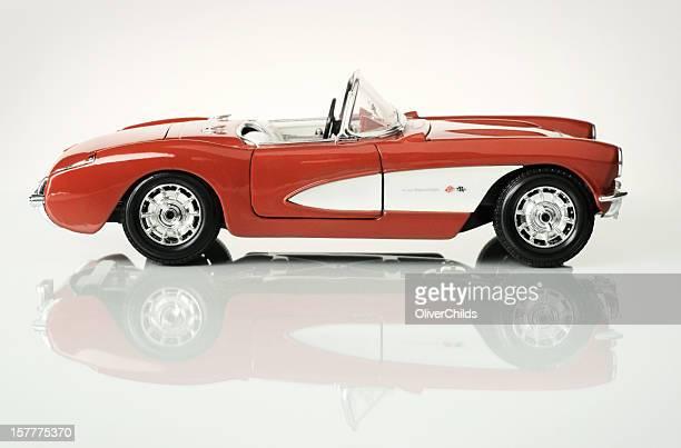 Fifty seven Chevrolet Corvette 1/18th scale model, side view.