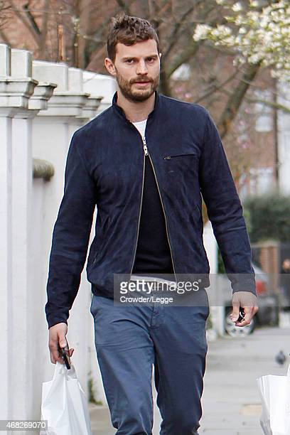 'Fifty shades of Grey' Actor Jamie Dornan pictured out shopping with his wife Amelia Warner on April 1 2015 in London England