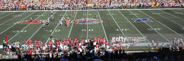 Fifty yard line view of the opening drive during the NFL Pro Bowl on February 13 2005 at Aloha Stadium in Honolulu Hawaii The AFC team defeated the...