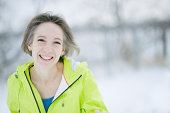 'A 50 year old woman is healthy, active, and happy. Nikon D700'