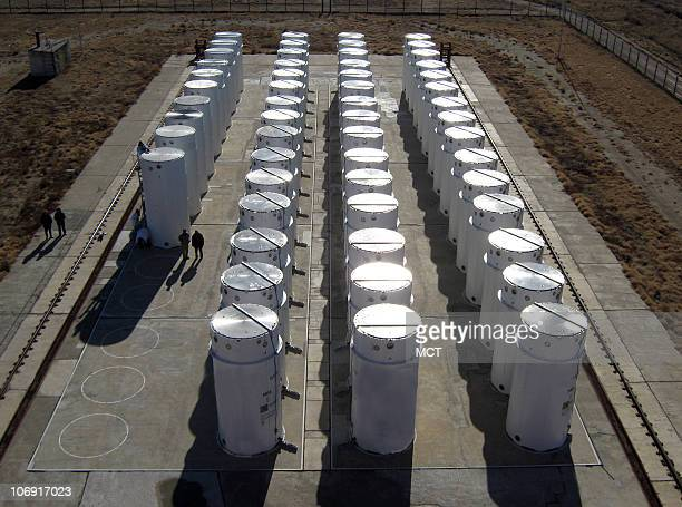 Fiftyfive of 60 massive storage casts containing 775 bombs' worth of nuclear weaponsgrade plutonium and highly enriched uranium sit inside a new...