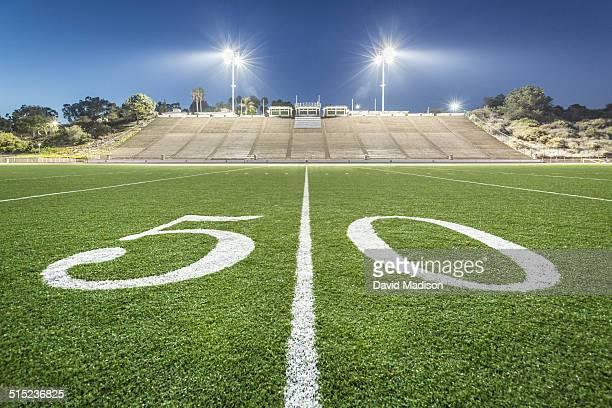 Fifty-yard line, football field