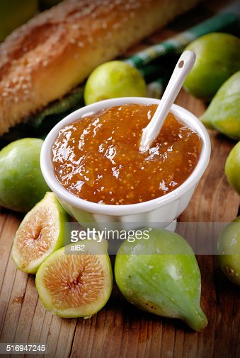 fig jam in the bowl : Stock Photo