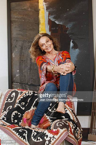 Figaro ID 085874009 Fashion designer Diane von Furstenberg is photographed for Le Figaro Magazine on May 18 2009 in Paris France CREDIT MUST READ...