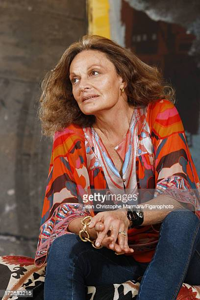 Figaro ID 085874014 Fashion designer Diane von Furstenberg is photographed for Le Figaro Magazine on May 18 2009 in Paris France CREDIT MUST READ...