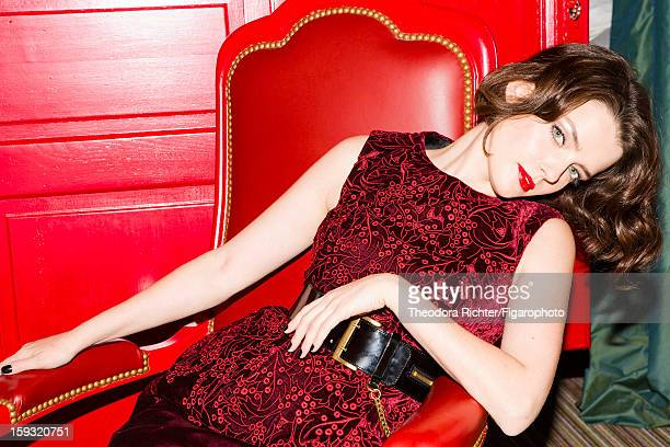 Figaro ID 104963002 Actress Roxane Mesquida is photographed for Madame Figaro on September 23 2012 in Paris France PUBLISHED IMAGE Dress and belt by...
