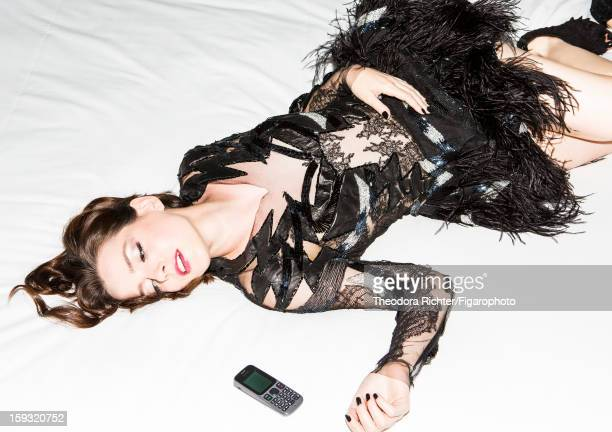 Figaro ID 104963003 Actress Roxane Mesquida is photographed for Madame Figaro on September 23 2012 in Paris France PUBLISHED IMAGE Dress by Valentin...