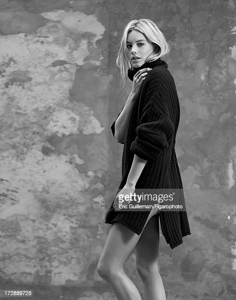 Figaro ID 105033009 Model Camille Rowe is photographed for Madame Figaro on September 27 2012 in Paris France Sweater rings Low Luv ring CREDIT MUST...