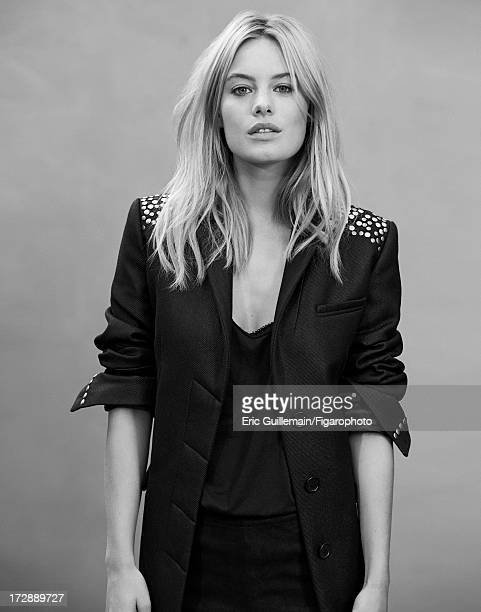 Figaro ID 105033011 Model Camille Rowe is photographed for Madame Figaro on September 27 2012 in Paris France Coat tank top and leggings ring CREDIT...