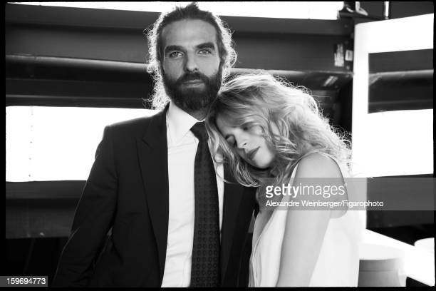 Figaro ID 105234004 Actress Cecile Cassel and hair stylist John Nollet are photographed for Madame Figaro on October 22 2012 in Paris France...