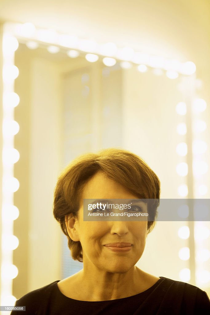 105268-005. Politician Roselyne Bachelot is photographed for Madame Figaro on October 23, 2012 in Paris, France.