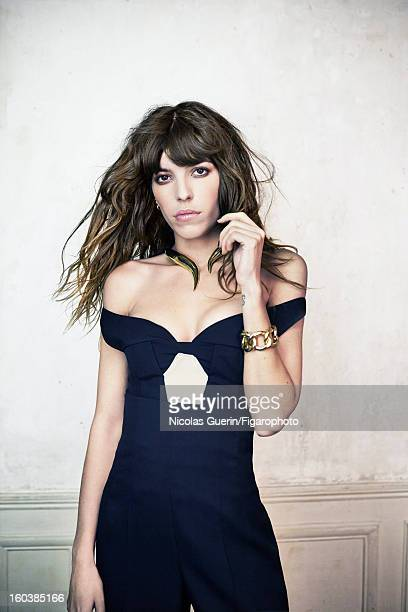 Figaro ID 105335004 Model Lou Doillon is photographed for Madame Figaro on November 13 2012 in Paris France COVER IMAGE Top and pants by Jil Sander...