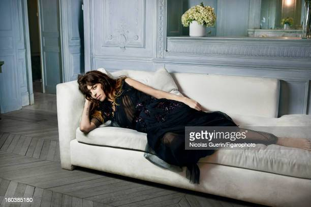 Figaro ID 105335005 Model Lou Doillon is photographed for Madame Figaro on November 13 2012 in Paris France PUBLISHED IMAGE Dress by Gucci Makeup by...