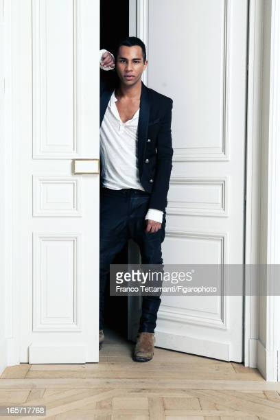 Figaro ID 105390003 Designer for Balmain Olivier Rousteing is photographed for Madame Figaro on November 9 2012 in Paris France PUBLISHED IMAGE...
