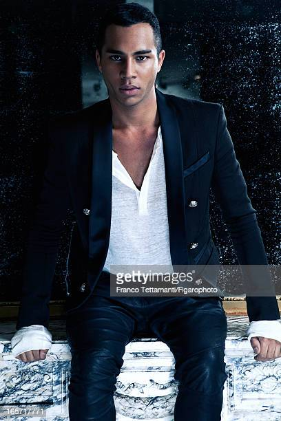 Figaro ID 105390005 Designer for Balmain Olivier Rousteing is photographed for Madame Figaro on November 9 2012 in Paris France PUBLISHED IMAGE...