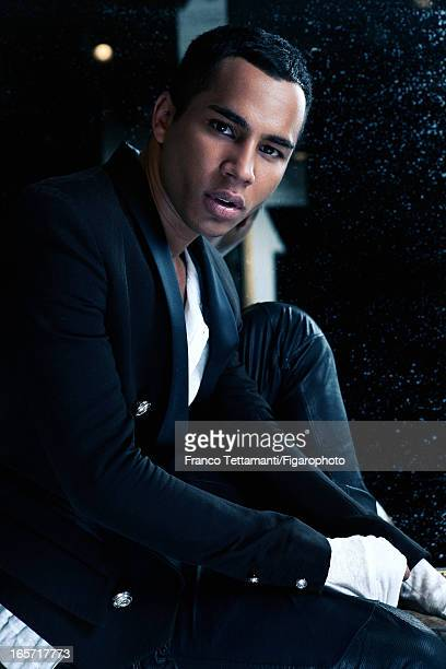 Figaro ID 105390006 Designer for Balmain Olivier Rousteing is photographed for Madame Figaro on November 9 2012 in Paris France CREDIT MUST READ...