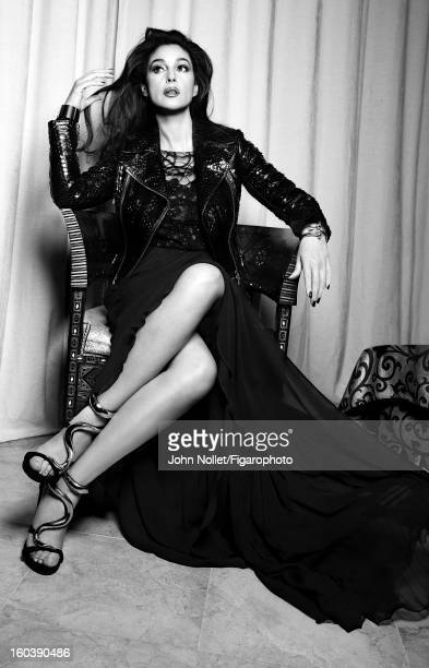 Figaro ID 105535005 Actress Monica Bellucci is photographed for Madame Figaro on December 1 2012 in Marrakech Morocco PUBLISHED IMAGE Dress by Elie...