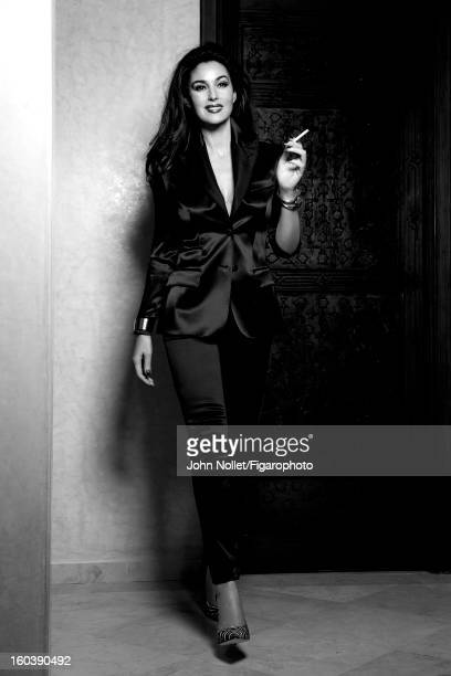 Figaro ID 105535006 Actress Monica Bellucci is photographed for Madame Figaro on December 1 2012 in Marrakech Morocco Suit by Dolce Gabbana cuff and...