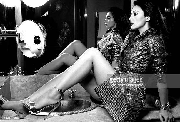 Figaro ID 105535007 Actress Monica Bellucci is photographed for Madame Figaro on December 1 2012 in Marrakech Morocco Trench by Diane Von Furstenberg...